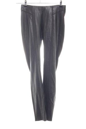 Comma Pantalone in pelle nero stile casual