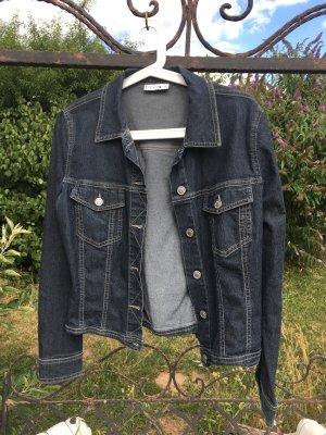 Comma leichte Jeans Jacke schwarz/blau Gr. 36