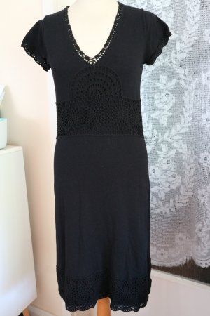Comma Knitted Dress black viscose