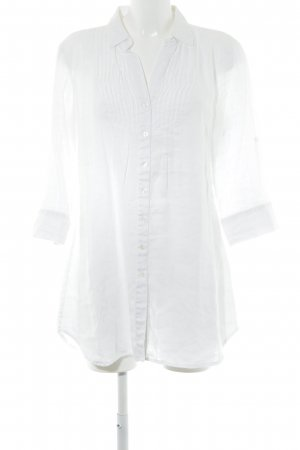 Comma Blouse en lin blanc style simple
