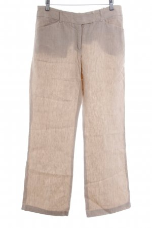 Comma Linen Pants oatmeal pinstripe casual look