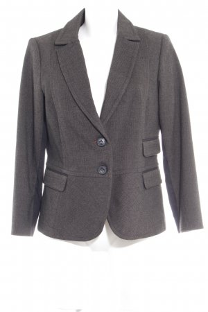 Comma Long-Blazer braun Fischgrätmuster Brit-Look
