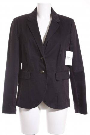 Comma Long-Blazer dunkelblau Casual-Look