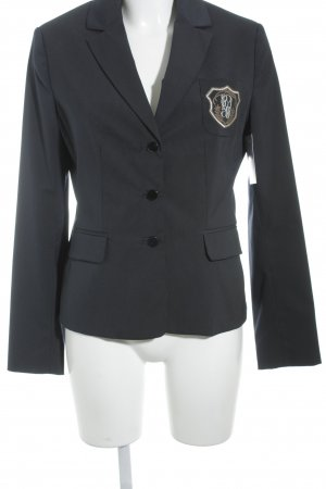 Comma Long-Blazer dunkelblau Nadelstreifen Casual-Look
