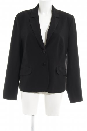 Comma Lange blazer zwart zakelijke stijl