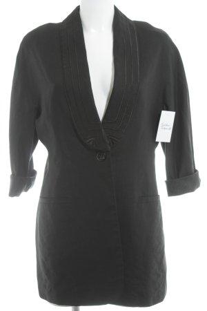 Comma Long-Blazer schwarz Casual-Look