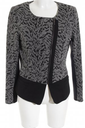 Comma Long-Blazer schwarz-grau Animalmuster Animal-Look