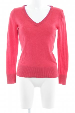 Comma Lange jumper baksteenrood casual uitstraling
