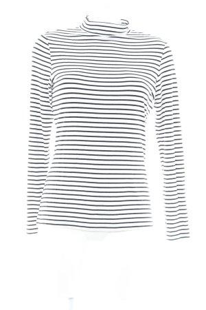 Comma Longshirt schwarz-weiß Streifenmuster Casual-Look