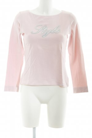 Comma Longsleeve pink embroidered lettering casual look