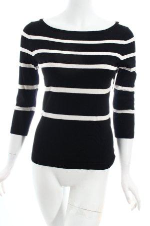 Comma Longsleeve schwarz-weiß Streifenmuster klassischer Stil