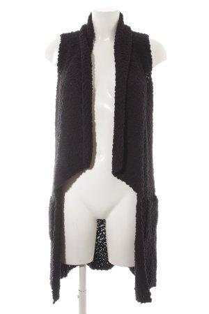 Comma Long Knitted Vest dark blue fluffy