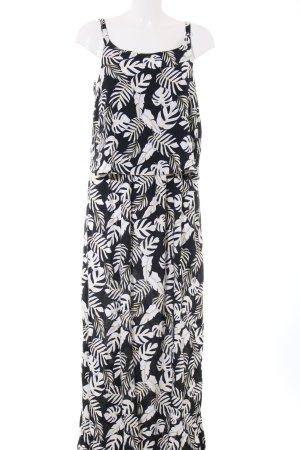 Comma Vestido largo negro-blanco estampado floral look casual