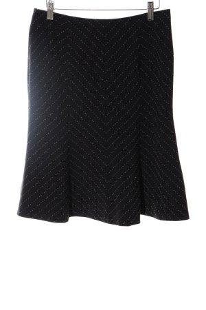 Comma Midirock schwarz-weiß Streifenmuster Business-Look