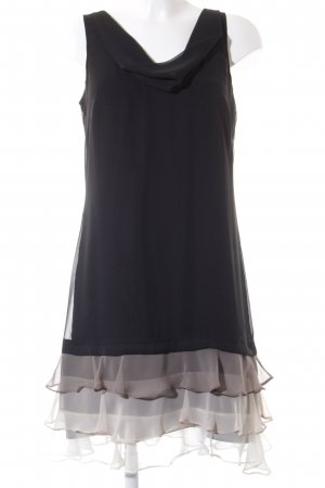 Comma Minikleid schwarz-hellbeige Elegant