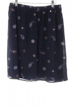 Comma Miniskirt dark blue floral pattern beach look