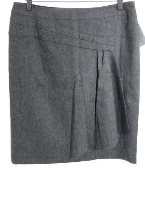 Comma Minirock grau-schwarz meliert Business-Look