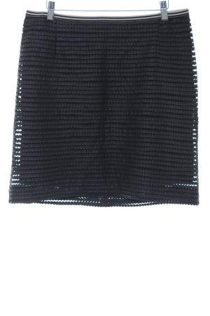 Comma Minirock schwarz Punktemuster Casual-Look