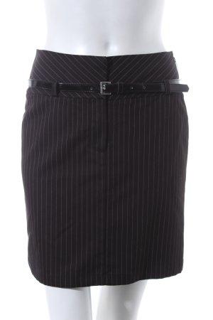 Comma Minirock schwarz-weiß Nadelstreifen Business-Look