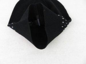 Comma Sombrero de punto negro tejido mezclado