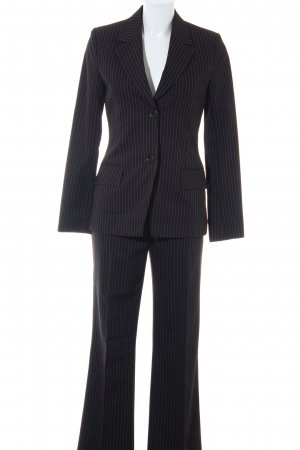 Comma Pinstripe Suit black-white pinstripe business style