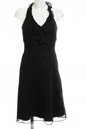 Comma Neckholderkleid schwarz Elegant