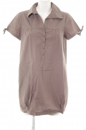 Comma Oversized Bluse braun Allover-Druck Casual-Look