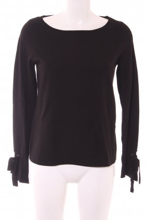 Comma Oversized Pullover schwarz Casual-Look