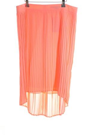 Comma Geplooide rok licht Oranje casual uitstraling