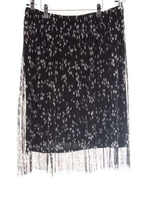 Comma Pleated Skirt white-black allover print casual look