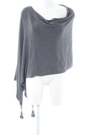 Comma Poncho gris claro moteado look casual