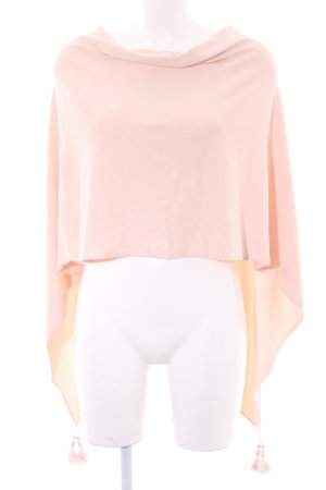 Comma Poncho stoffig roze casual uitstraling