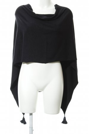 Comma Poncho donkerblauw casual uitstraling