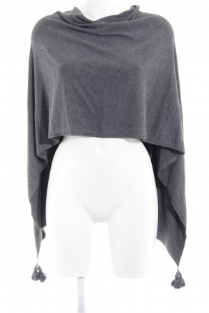 Comma Poncho donkergrijs casual uitstraling