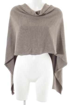 Comma Poncho marrone-grigio stile casual