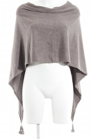 Comma Poncho grijs-bruin casual uitstraling