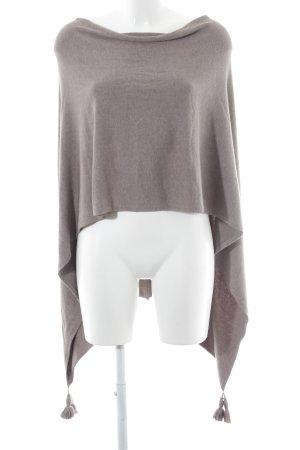 Comma Poncho marrón grisáceo estilo minimalista