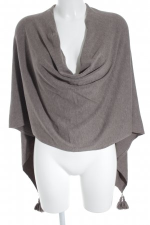 Comma Poncho gris brun style simple