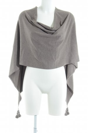 Comma Poncho lichtbruin casual uitstraling