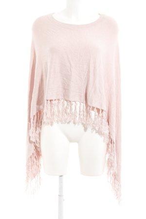 Comma Poncho rosa pallido stile casual