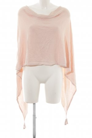 Comma Poncho rosa pallido stile casual