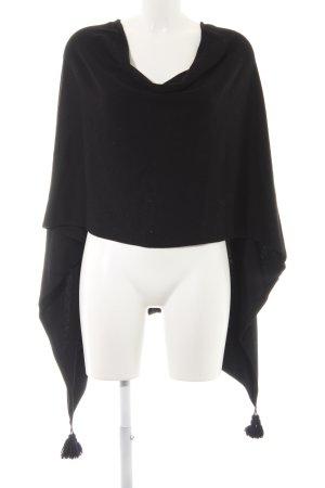 Comma Poncho negro look casual