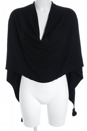 Comma Poncho black simple style