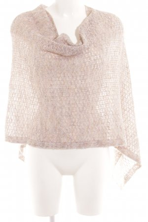 Comma Poncho natural white-light pink spots-of-color pattern casual look