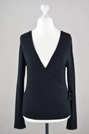 Comma Pullover mit großem Ausschnitt schwarz Größe 38