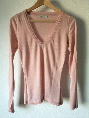 Comma Pullover Shirt v-Ausschnitt rosa nude 36