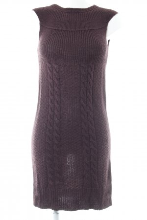Comma Sweater Dress dark violet cable stitch classic style