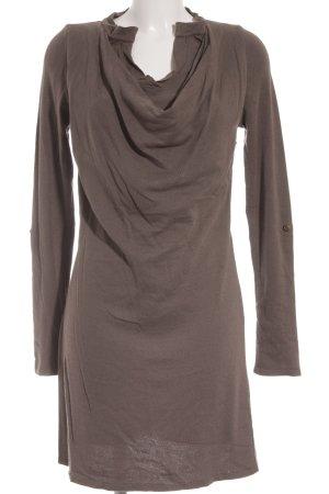Comma Vestido tipo jersey marrón grisáceo estilo sencillo