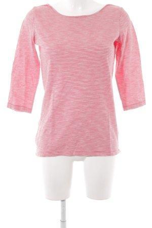Comma Gestreept shirt rood-wit horizontale strepen Britse uitstraling