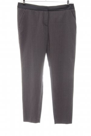 Comma Röhrenhose braun grafisches Muster Casual-Look